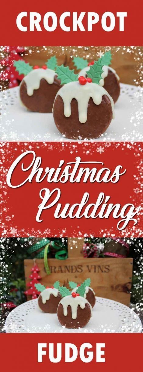 Crockpot chocolate and caramel fudge Christmas puddings. East homemade chocolate fudge recipe made in the slow cooker. Perfect Christmas craft activity, shaping homemade fudge into cute Christmas Pudding shapes. Decorated with melted chocolate and suga