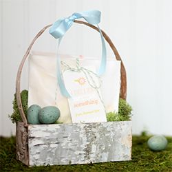 Did you know you can buy sheets of birch bark? Grab some and turn it into a beautiful basket!
