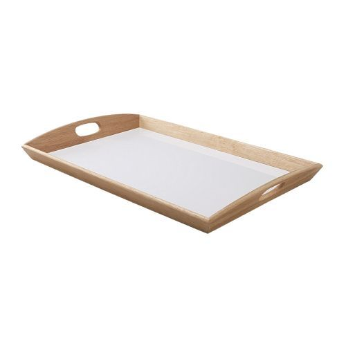 Klack Tray from Ikea $7.99 ~ Wondering if I can paint it and monogram it, could make a really cute gift.