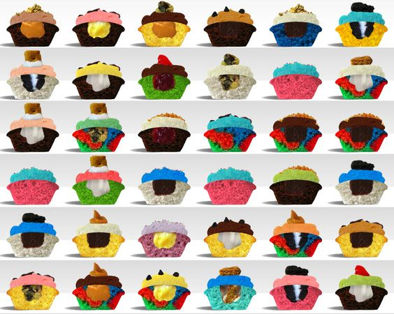 baked by melissa - Cupcake Art! Make a image out of Baked By Melissa Cupcakes