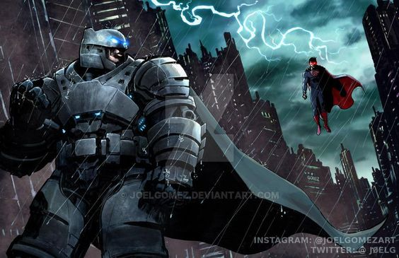 extraordinarycomics:  Batman v Superman by Joel Gomez.