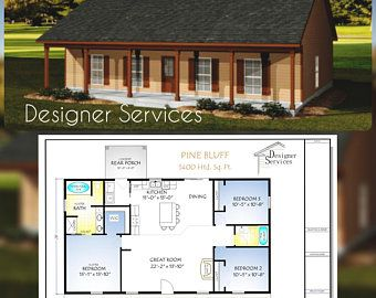 89 8 M2 Or 966 Sq Foot 2 Bedrooms 2 Bathroom Granny Flat Etsy Barn Style House Plans Cabin House Plans House Plans