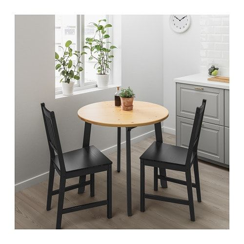 Gamlared Table Light Antique Stain Black Stained Ikea Small Kitchen Tables Small Dining Table Small Dining