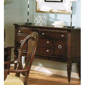 Server Sideboard with Storage Drawers - Cherry Finish $427.55