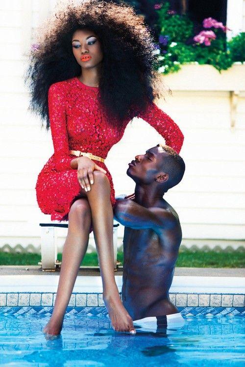 Miyanda Jacobs-Newton and Adonis Bosso by Jorge Camarotti for Dress to Kill Winter 2013.