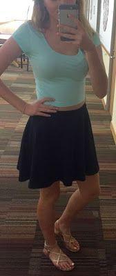 ootd | crop top & skirt