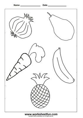 Coloring Fruits and Vegetables ovocezelenina