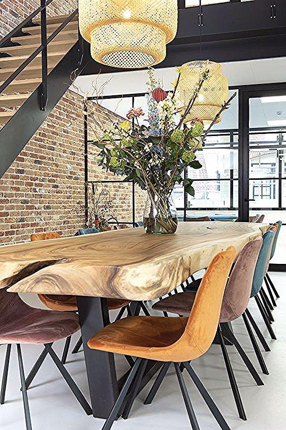 Casa Stil Scandinav In 2020 Wooden Living Room Furniture Dining Room Decor Wooden Dining Tables