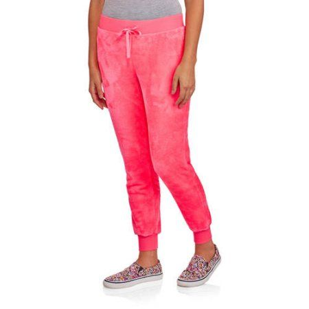 No Boundaries Juniors' Super Soft Fuzzy Fleece Lounge Pants, Size: Medium, Pink
