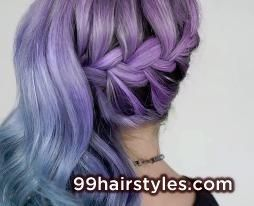 colorful braided hairstyle - 99 Hairstyles Ideas