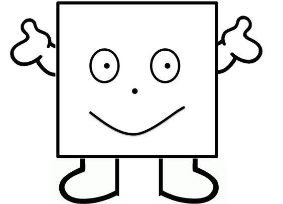 Vormenmannetje - vierkant