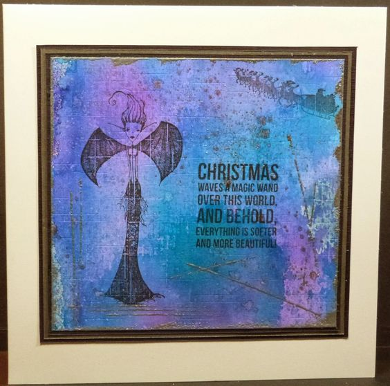 Artwork created by Amanda using rubber stamps designed by Daniel Torrente for Stampotique Originals