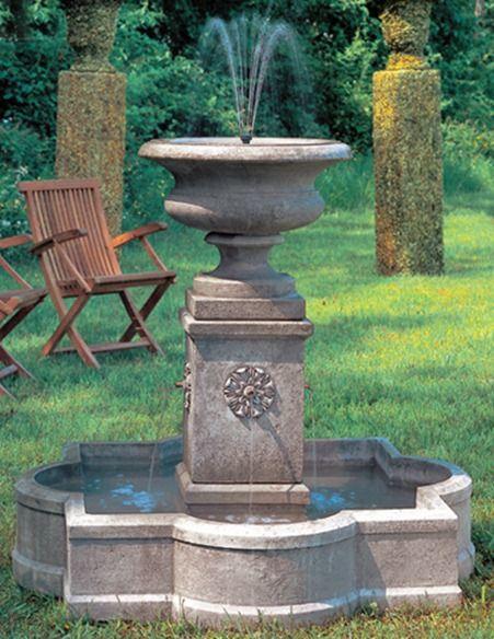 Fuentes de agua en jardines fotos de variedad de fuentes for Fuentes para jardin