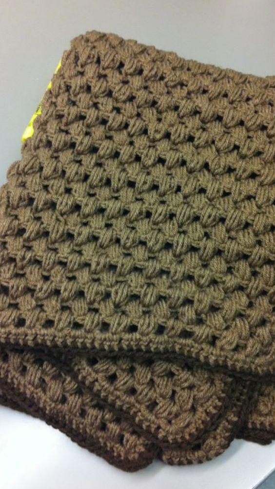 Jamies Puff Stitch Blanket Crafty-stuffs Pinterest ...