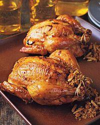 Couscous-Stuffed Cornish Hens Recipe - Quick From Scratch Herbs ...