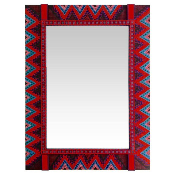 Painted Wooden Mirrors - Apache Mirror - KAR15 #affiliate