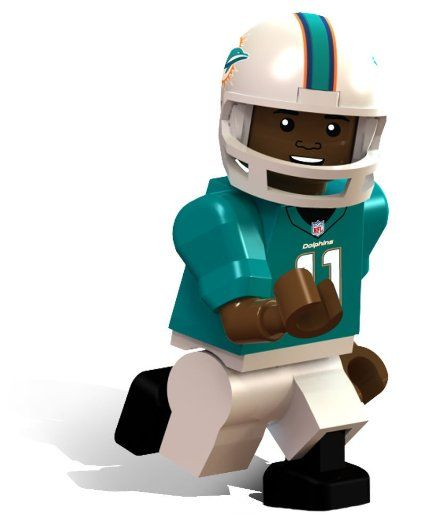 Amazon.com : OYO Football NFL Building Brick Minifigure Mike Wallace [Miami Dolphins] : Hobby Pre Built Model Vehicles : Toys & Games