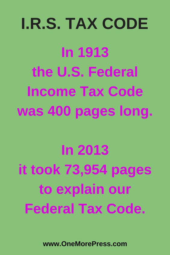 Irs Tax Code  In  The US Federal Income Tax Code Was