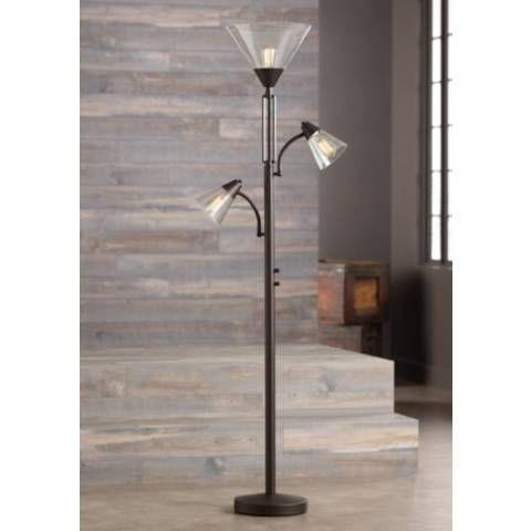 Warwick Tree Torchiere Led Floor Lamp With Edison Bulbs 32y35 Lamps Plus Torchiere Floor Lamp Diy Floor Lamp Lamp