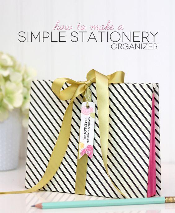 How to Organize Your Stationery  | Damask Love Blog Beautiful!! Catalogo/organizador/fichário.