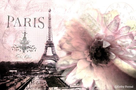 "Paris Photography - Dreamy Eiffel Tower Photo, Surreal Paris Pink Print, Paris Eiffel Tower Fine Art Photograph 8"" x 12"". $30.00, via Etsy."