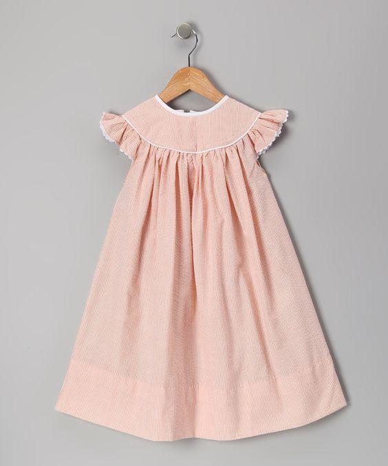 Orange Seersucker Dress - Infant, Toddler & Girls   Daily deals for moms, babies and kids