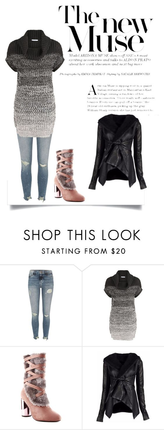 """The New Muse"" by tinydancer2018 ❤ liked on Polyvore featuring River Island, Devoted, Cape Robbin and Rick Owens"