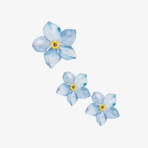 Simple Small Fresh Hand Painted Watercolor Blue Flowers Small Fresh Simple Watercolor Png Transparent Clipart Image And Psd File For Free Download Ideas Fl Blue Flower Painting Blue Flower Art Flower