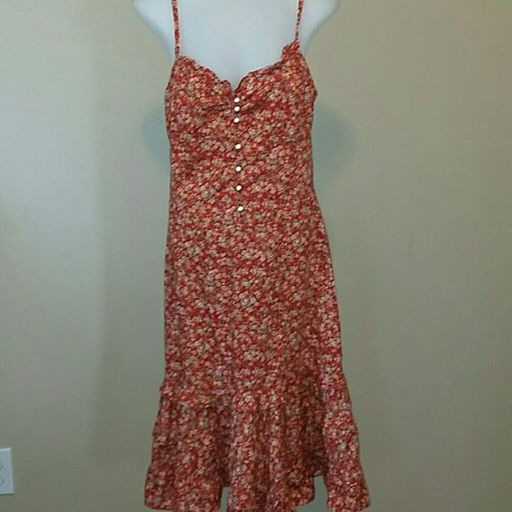 RALPH LAUREN SUMMER FLORAL DRESS Beautiful summer dress, dress up with a heel or casual with a sandal Polo by Ralph Lauren Dresses