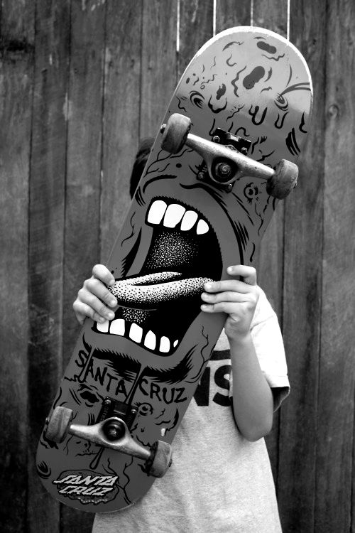 .  big scary teeth. i'd prefer mine on a tee possibly, although the deck can speak.