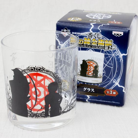 FullMetal Alchemist Glass Edward & Alphonse Elric Banpresto JAPAN ANIME…