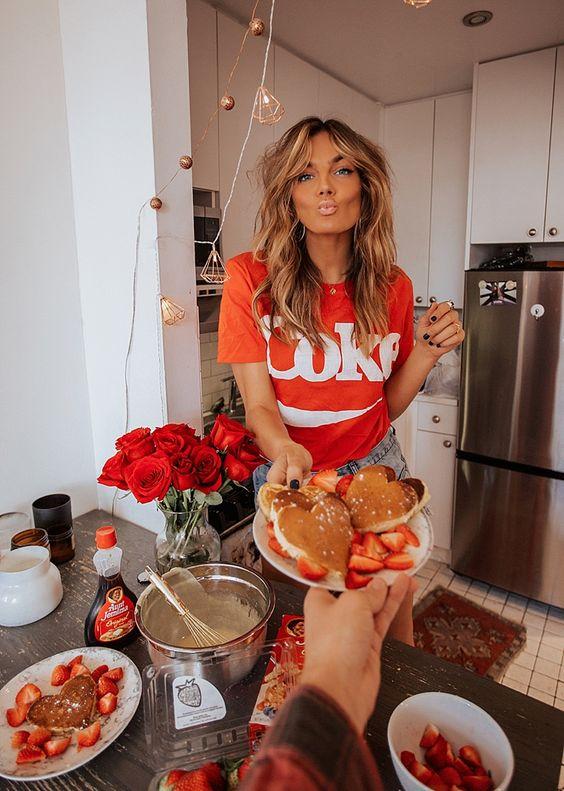 Be my Valentine Pancakes on Valentines  #tezza