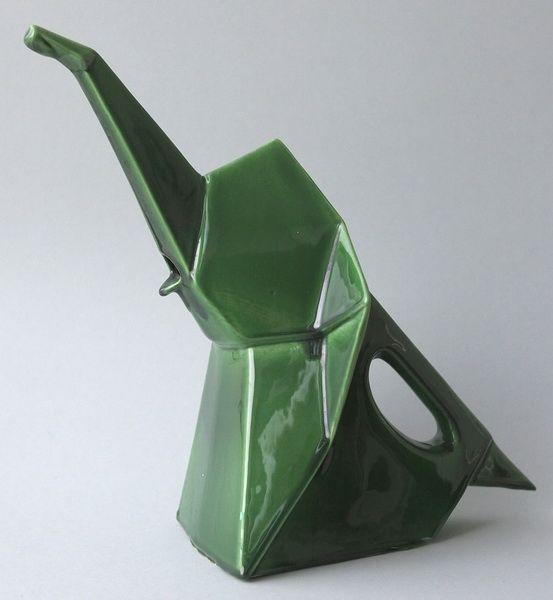 Ceramic elephant watering can, France. Etchings Volker Kühn - Category: Porcelain