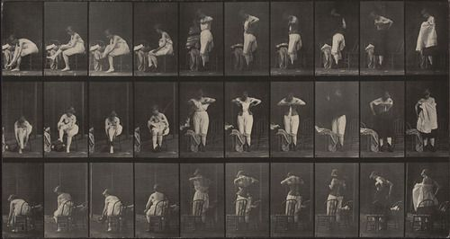 Eadweard J. Muybridge. Miscellaneous Phases of the Toilet: Plate 494 from Animal Locomotion (1887). 1884-86