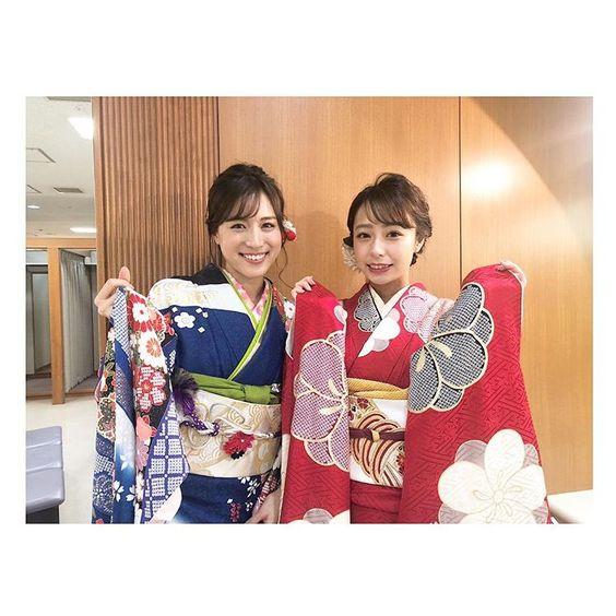 着物の笹川友里アナ