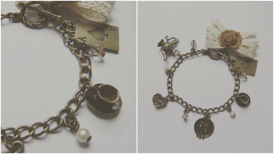 DIY Fashion: Alice In Wonderland Vintage Bracelet Tutorial
