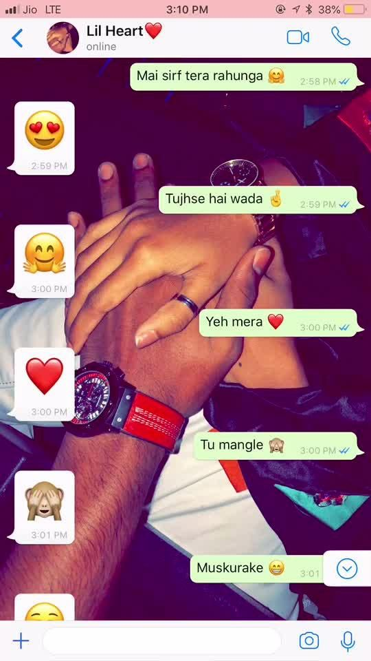 Mr Baig Has Just Created An Awesome Short Video With Me Sirf Tera Rahunga Cute Boyfriend Texts Cute Love Quotes Cute Texts