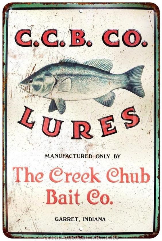The Creek Chub Bait Co. Lures Vintage Look Reproduction 8x12 Metal Sign 8121818 in Collectibles, Advertising, Merchandise & Memorabilia | eBay
