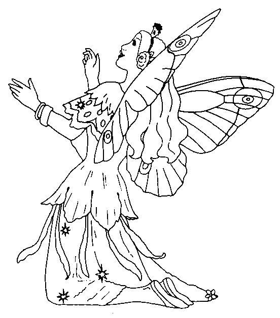 Fantasy Fargelegging for barn. Tegninger for utskrift og fargelegging nº 28