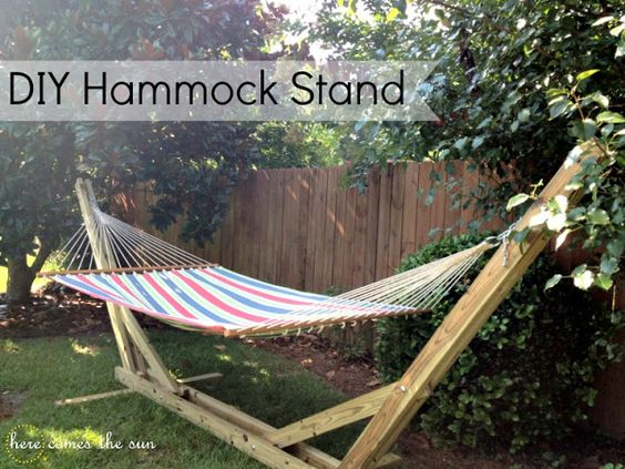 ate a hammock stand is really informative and simple to follow. It is a great option for anyone who has no option to hang a hammock in his h...