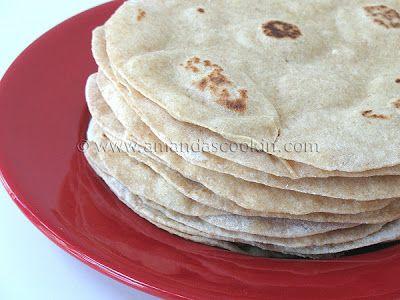 Low Fat Homemade Flour Tortillas - Amanda's Cookin'
