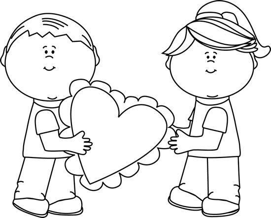 20+ Friendship Day Clipart Black And White