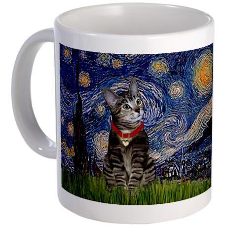 Starry Night / Tiger Cat Mug