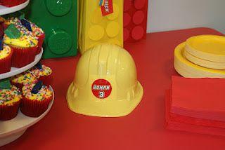 lego party birthday hat