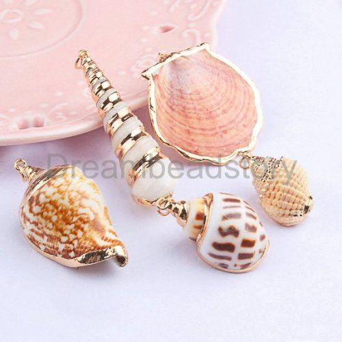 20pcs Fashion Pearl Shell Pendants Charms Jewelry Finding DIY Fit Necklace