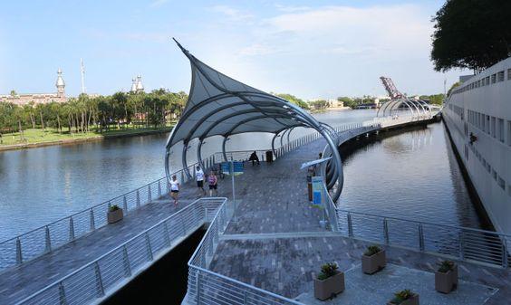 Tampa S Riverwalk Offers Water Recreation Options W Video Tampa Riverwalk Florida City River Walk