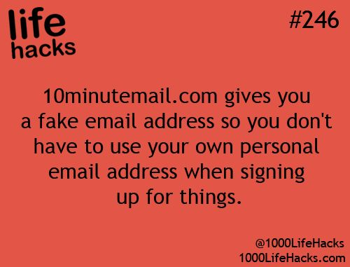 Fake email account to use for 10min to avoid spam - great life hack: