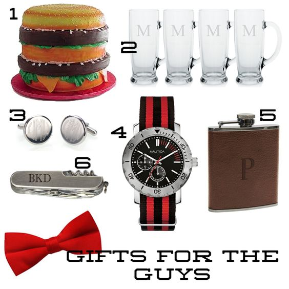 Gifts for the groom and his groomsmen
