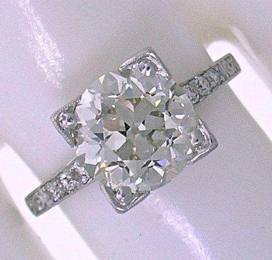 3.15ct Old European Cut Diamond- L VS1-in an Original 1925 Art Deco Mounting