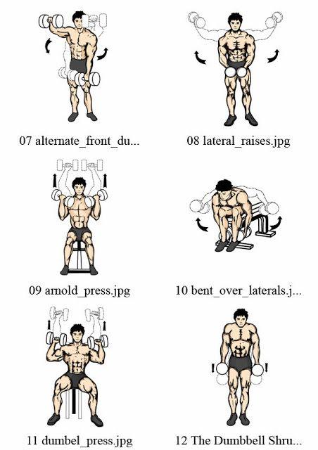 Rutina de hombro con pesas